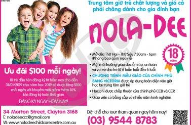 NOLA-DEE - Trung tâm giữ trẻ uy tín và giá cả phải chăng dành cho gia đình bạn